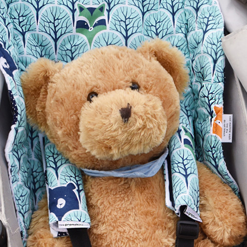 Peekaboo Mint Cotton Pram Liner to fit Phil&Teds