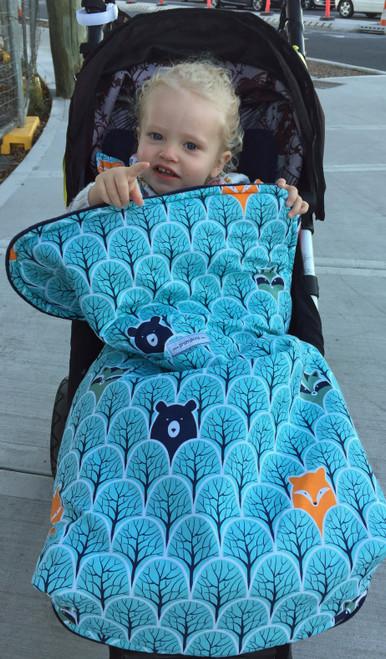 Peekaboo Mint Snuggle Bag to fit Mountain Buggy