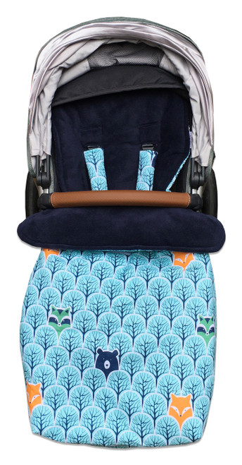 Peekaboo Snuggle Bag photographed in Uppababy Vista rumble seat