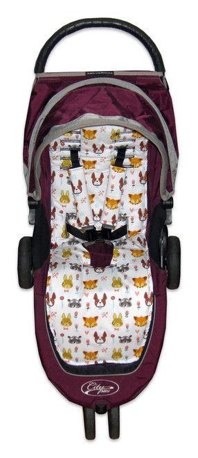 Furry Mates Cotton Pram Liner to fit Baby Jogger