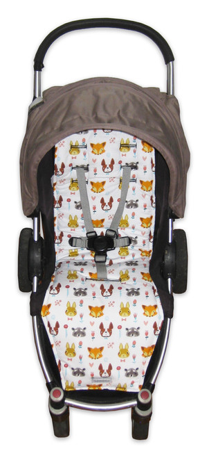 Furry Mates cotton pram liner to fit Steelcraft Agile