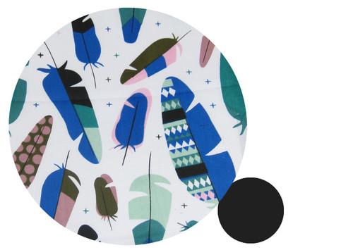 Feathers Teal & Blue Cotton Pram Liner to fit Agile/Agile Plus