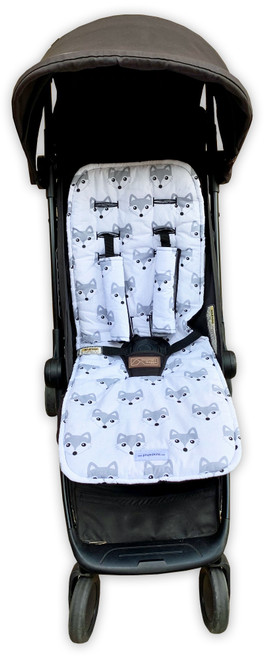 Fox Grey Cotton Pram Liner to fit Mountain Buggy Nano