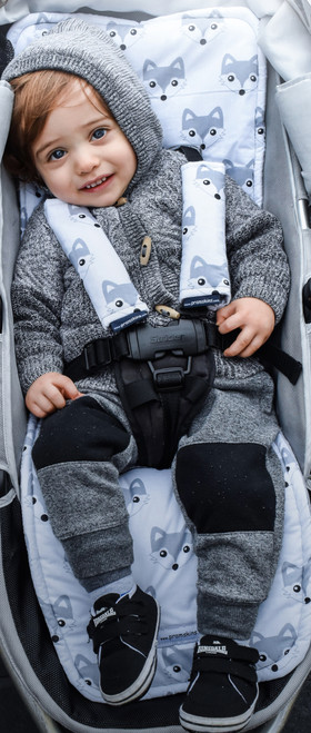 Fox Grey Cotton Pram Liner to fit Baby Jogger