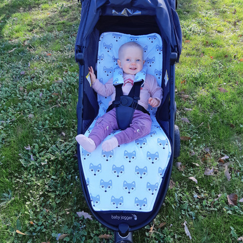 Fox Grey pram liner to fit Baby Jogger City Mini GT (photographed in GT 2)