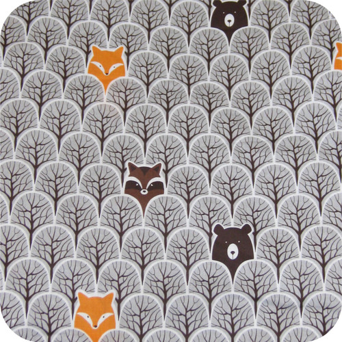 Peekaboo Grey Cotton Pram Liner to fit Mountain Buggy Swift/Mini