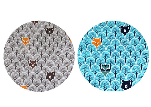 Peekaboo Blue & Grey Twin to fit MB Duo/Duet - set of 2 liners