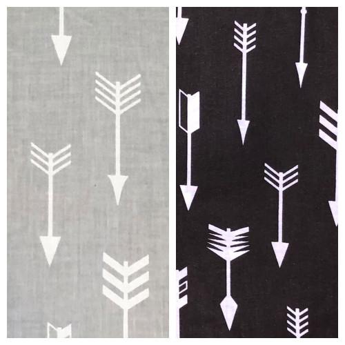 Arrows Black & Grey 100% cotton