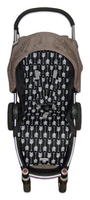 Arrows Black & White Cotton Pram Liner to fit Agile/Agile Plus/Agile Elite