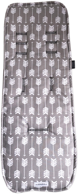 Arrows Grey & White Cotton Pram Liner to fit iCandy