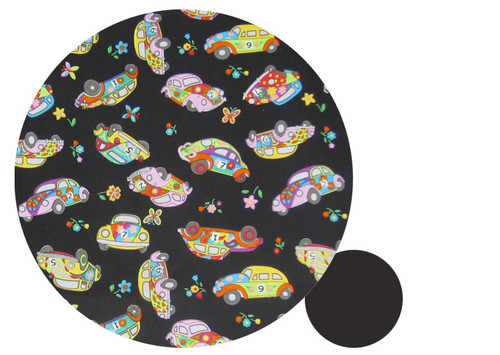Candy Car Black & White Cotton Universal Fit Capsule Liner - last one