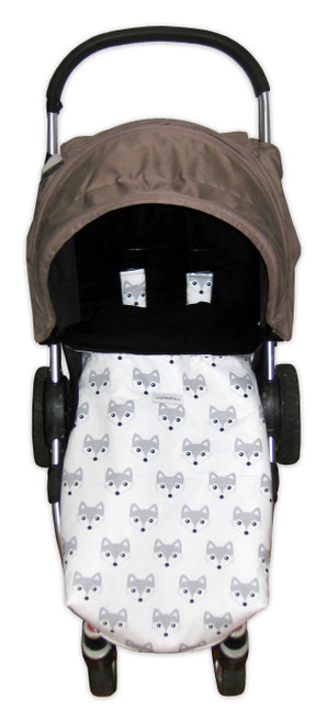 Grey Fox Universal Fit Snuggle Bag/Footmuff photographed in Steelcraft Agile