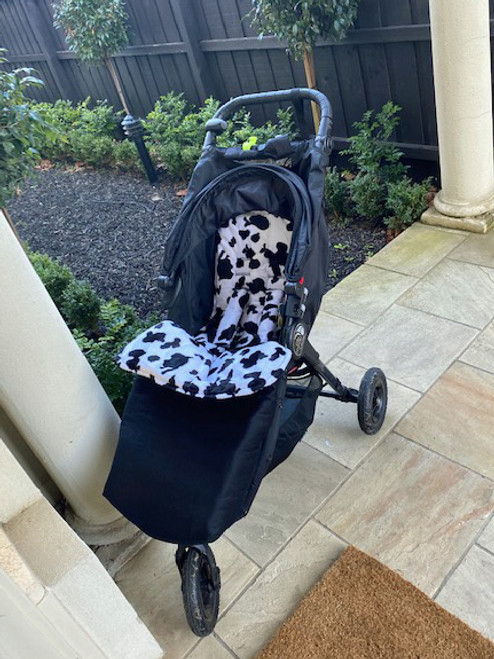 Faux Fur Black snuggle bag to fit Baby Jogger City Mini GT