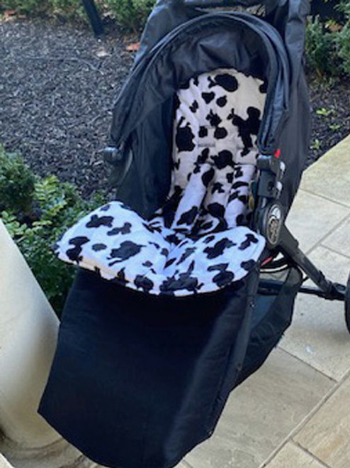 Faux Fur Black snuggle bag to fit Baby Jogger City Mini GT