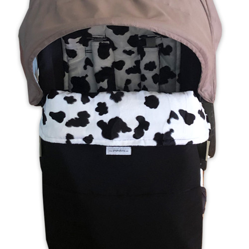 Faux Fur Black & White Snuggle Bag to fit Mountain Buggy