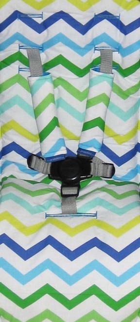 Cool Chevron Cotton Pram Liner to fit Strider