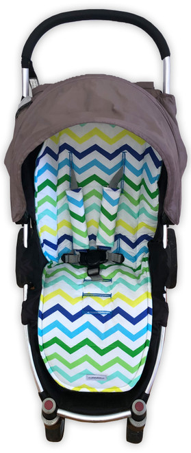 Cool Chevron Cotton Universal Fit Pram Liner (harness strap covers optional)