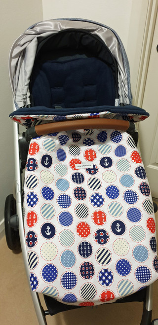 Nautical Snuggle Bag to fit Uppababy