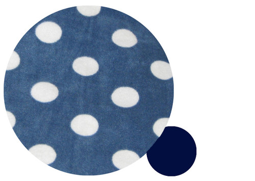 Navy Blue & White Dots Snuggle Bag to fit Uppababy