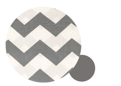 Chevron Grey &  Cotton Pram Liner to fit Mountain Buggy Nano/Cosmopolitan