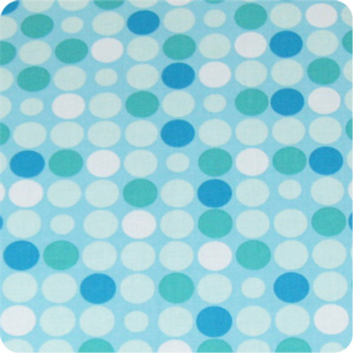 Retro Dots Aqua Cotton Pram Liner to fit Babyzen YoYo