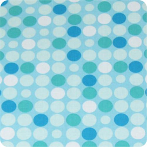Retro Dots Aqua 100% cotton