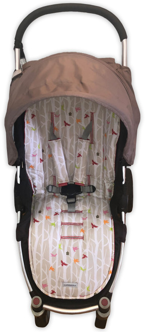 Little Bird Cotton Universal Fit Pram Liner Set (harness strap covers optional)