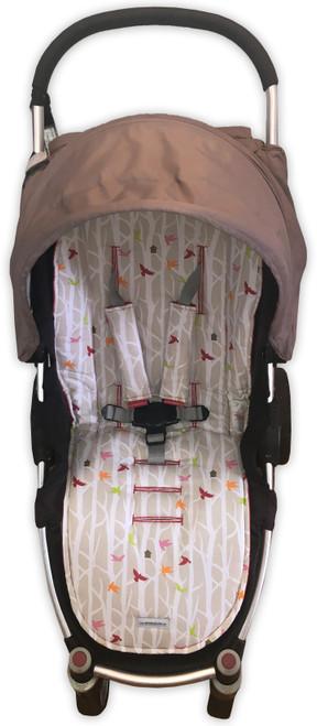 Little Bird Cotton Universal Fit Pram Liner Set (harness strap covers optional)