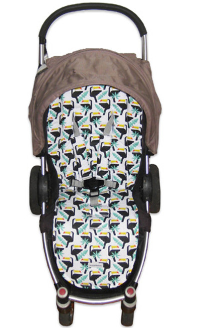 Toucans universal fit pram liner set photographed in Steelcraft Agile.