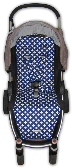 Crosses Navy Cotton Pram Liner to fit Agile/Agile Plus
