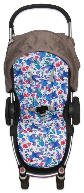 Hummingbird universal fit pram liner set photographed in Steelcraft Agile.