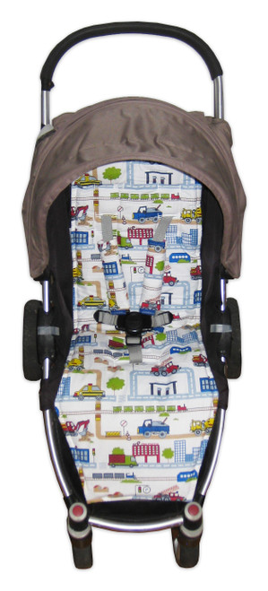 """On the Road"" cotton pram liner to fit Steelcraft Agile"