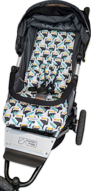 Toucans cotton pram liner set to fit Mountain Buggy