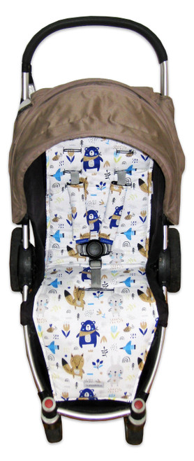 Scandi Woodland pram liner to fit Steelcraft Agile