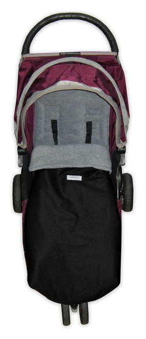 Jet Black & Grey Snuggle Bag to fit Baby Jogger