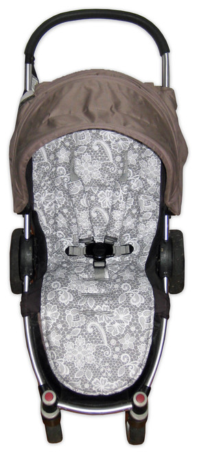 Lace Filigree universal fit pram liner set (harness strap covers optional)