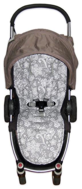 Lace Filigree universal fit pram liner set (harness strap covers optional)