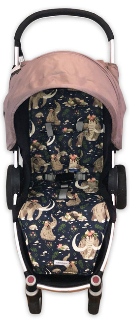 Little Mammoth cotton pram liner set (harness strap covers optional)