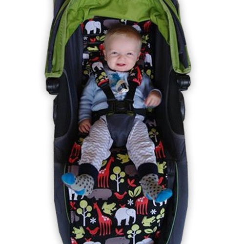 Zoology Black Cotton Pram Liner for Baby Jogger