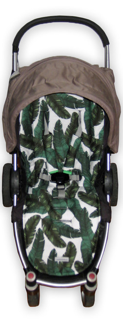 Rainforest cotton pram liner