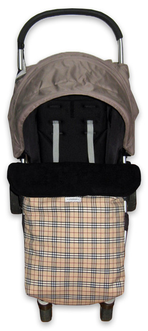 Tartan universal footmuff photographed in Steelcraft Agile