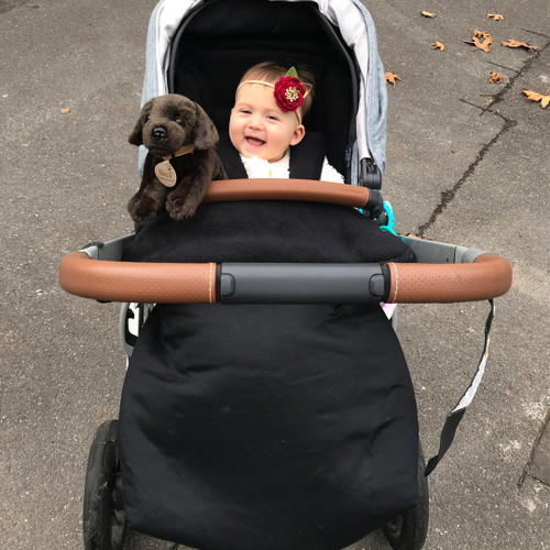 Jet Black Waterproof Snuggle Bag to fit Uppababy