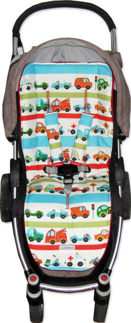 Trucks and Cars Universal Fit Cotton Pram Liner