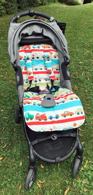 Trucks and Cars Cotton Pram Liner to fit Baby Jogger