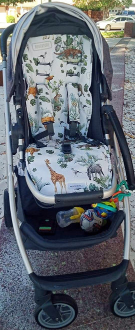 Safari Adventure Cotton Pram Liner to fit Uppababy