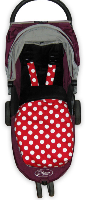 Minnie Red Polka Dot & Black Snuggle Bag to fit Baby Jogger City Mini GT