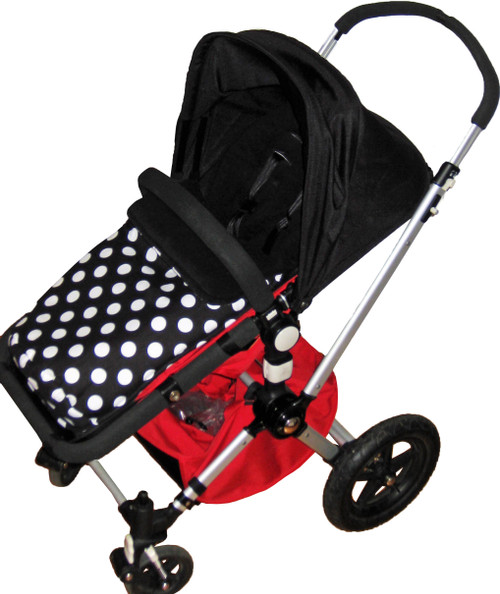 Minnie Polka Dot Black White Snuggle Bag to fit Bugaboo Cameleon