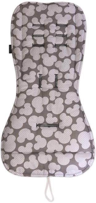 Mickey Grey Cotton Pram Liner to fit Babyzen YoYo