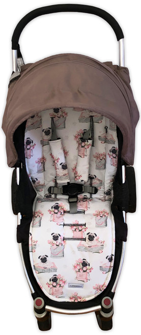 Love Pugs Universal Fit Cotton Pram Liner
