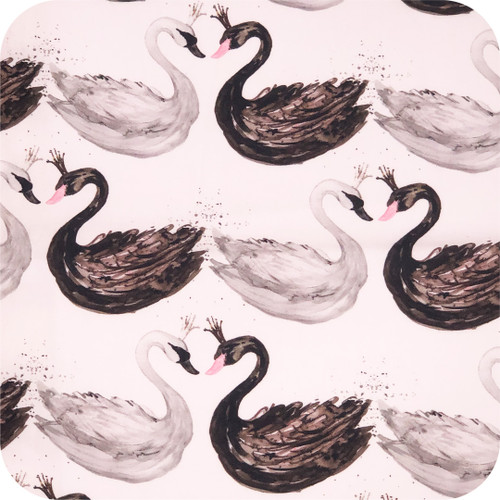 Swans Black & White 100% cotton